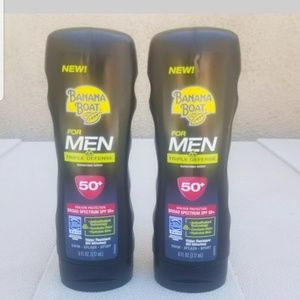 Banana Boat X 2 for Men Triple Defense SPF 50 6oz